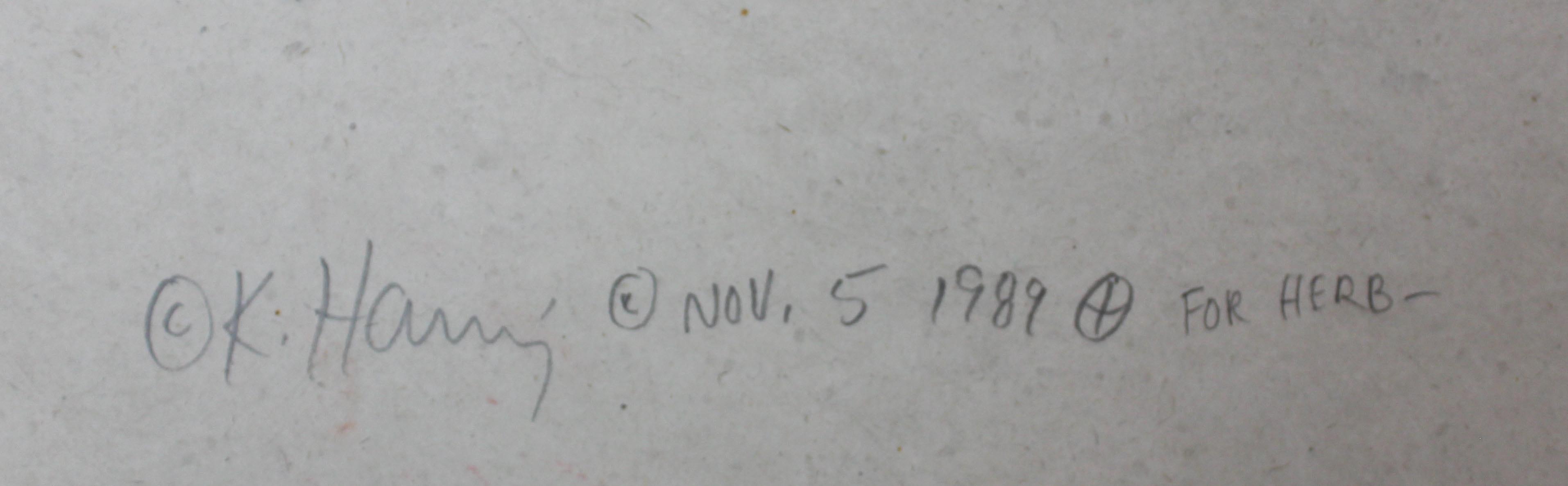 Haring Original signature