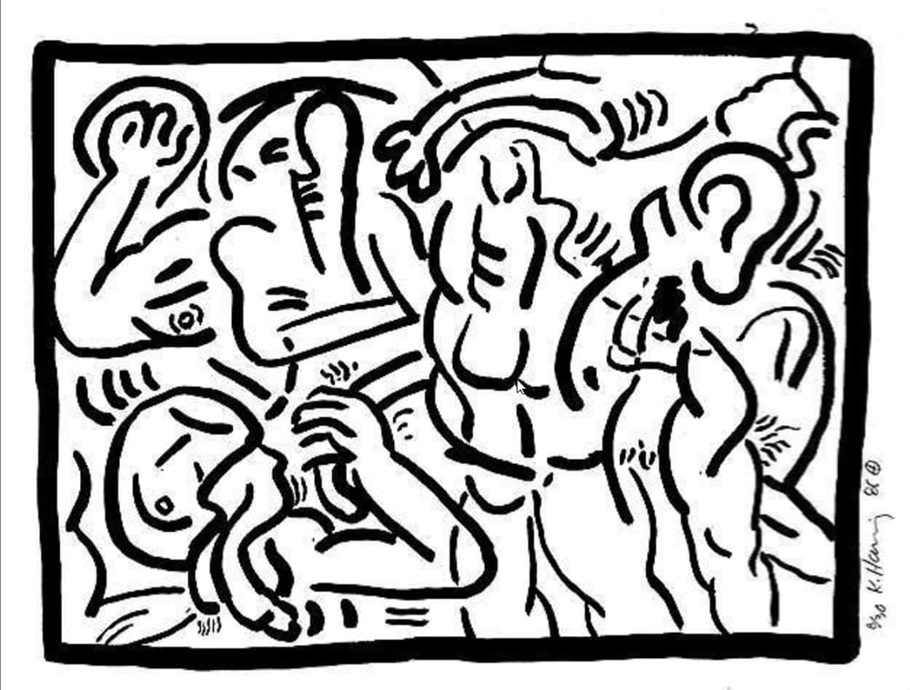 Keith-Haring-Untitled(BadBoys3)