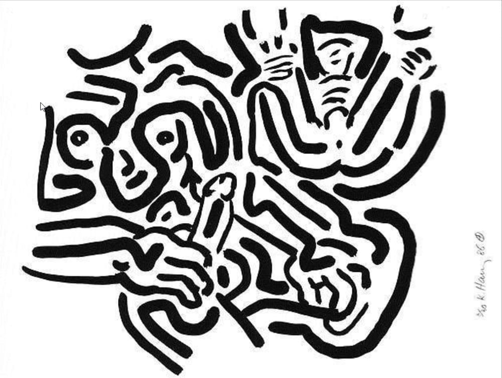 Keith-Haring-Untitled(BadBoys6)