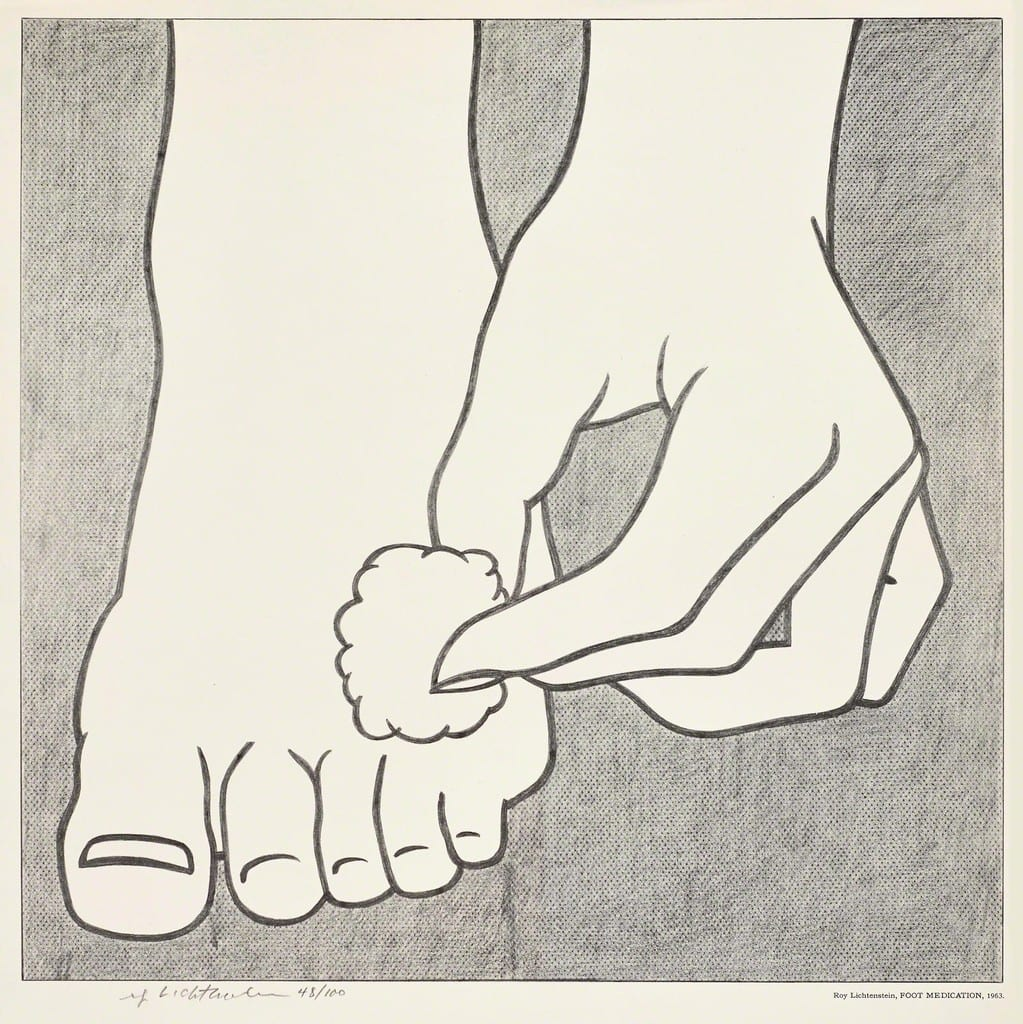 Roy-Lichtenstein-Foot-Medication