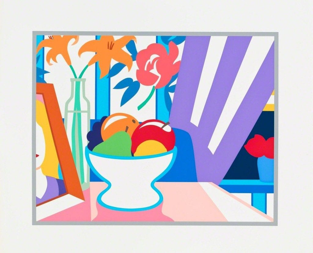 Still Life with Lilies and Mixed Fruit, 1997