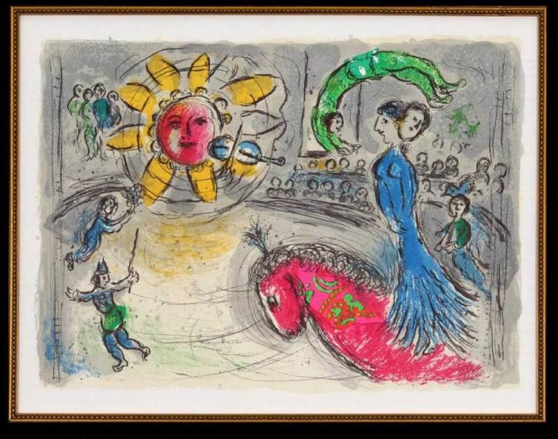 Lot_0023_-_Marc_Chagall_-_Soleil_Au_Cheval_Rouge