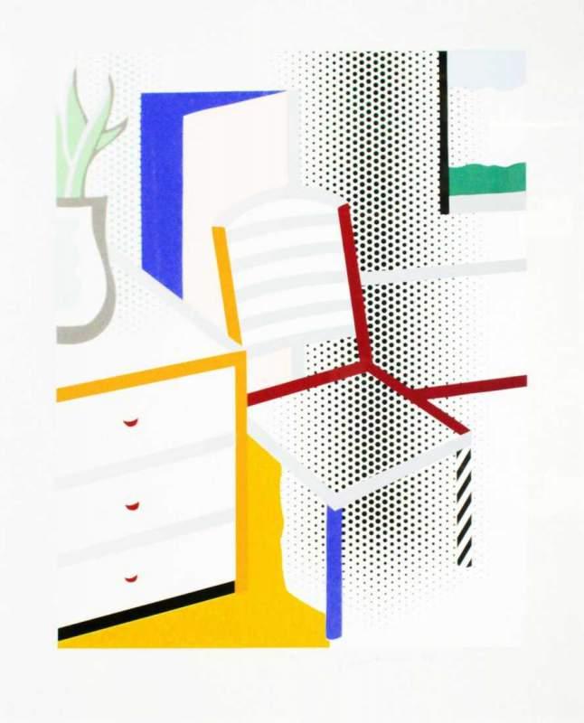 Lot_0044_-_Roy_Lichtenstein_-_Interior_with_Chair