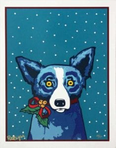George Rodrigue- Paper Ribbons and Me, 2000